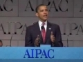 Puppet Obama at AIPAC - English