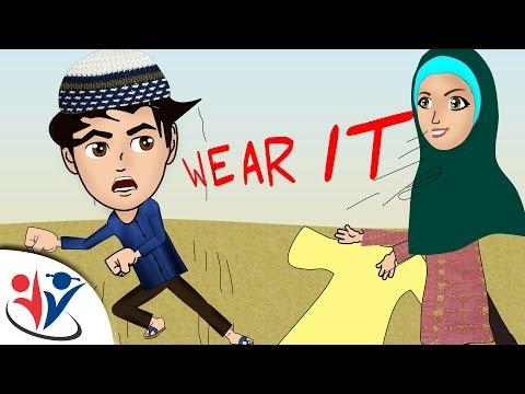 Abdul Bari Muslims Islamic Cartoon for children - wear your clothes | dua when clothing- English