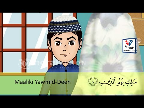 Abdul Bari Muslims Islamic Cartoon for children - Abdul Bari learning Surah Al-Fatiha - Urdu