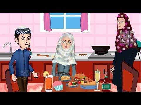 Abdul Bari Muslims Islamic Cartoon for children - Washing hands & forgot Bismillah- Urdu