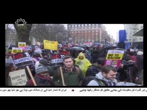 [23 April 2017]امریکی صدر کی پالیسیوں کے خلاف شدید احتجاجی مظاہرے - Urdu