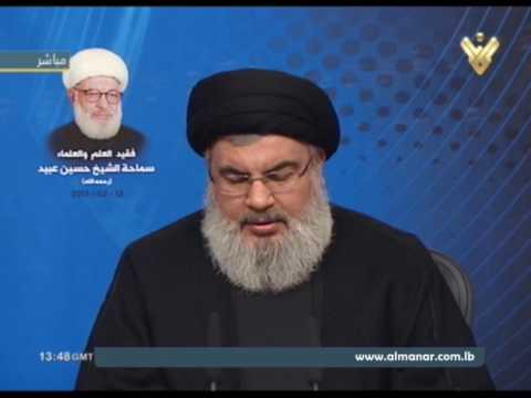 السيد نصر الله : من يسكن في البيت الأبيض أحمق وهذا بداية الفرج - Arabic