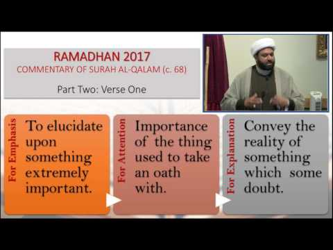 Commentary of Surah Al-Qalam: Part 2 - English
