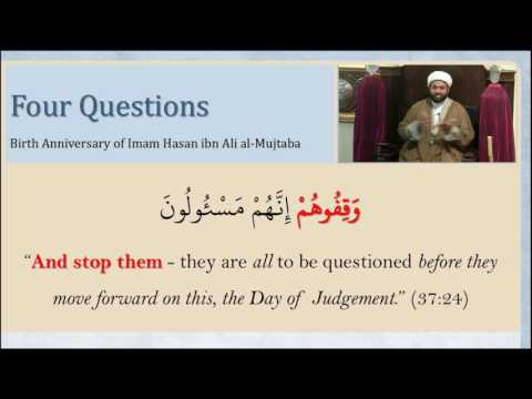 Birth of Imam Hassan Al-Mujtaba (A): Four Questions - English