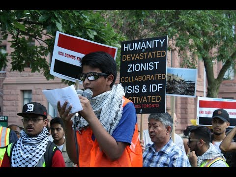 Br. Abbas Spoken words at Toronto Alquds Rally 2017