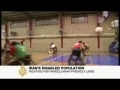 Disabled Irani war veterans playing basketball - English