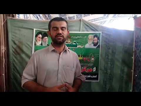 [2nd Blood Donation Drive By Asgharia] Briefing of Saeed Ali about the  blood camps in interior Sindh Urdu