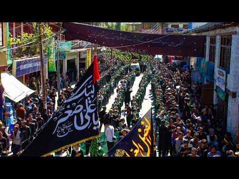 8th Muharram Procession in Kargil Ladakh - Youm-e-Ali Asgar Held By Students Of MES (IKMT) - Urdu