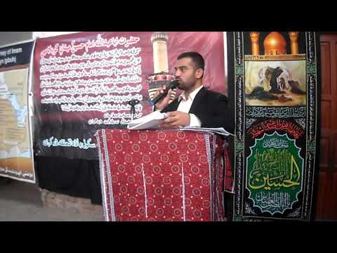[Hussain Day at Masomin Public school Badah] Speech by  Sir Saeed Ali - Sindhi
