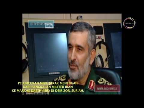 [Clip] Peluncuran Misil Jarak Menengah dari Pangkalan Militer Iran ke Arah Markas Daesh di Deir Zor - Farsi sub Malay