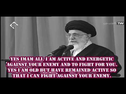 IMAM ALI OLD COMPANION-Imam Khamenei  narrating hadith - Farsi sub English
