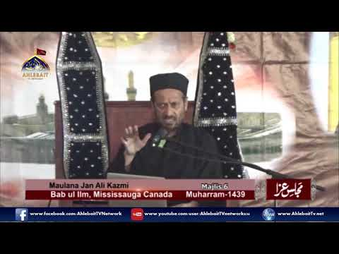 Maulana Jan Ali Shah Kazmi - 6th of Muharram, 2017 Majlis at Bab ul Ilm, Mississauga - Urdu