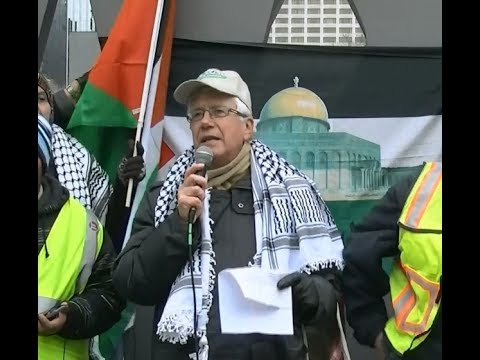 George Bartlett United Church Speaking at Toronto Hands Off Jerusalem Al-Quds Rally Dec.09 2017 - English