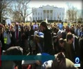 [28 January 2018] Muslims denounce Trump travel ban with mass prayer outside White House - English