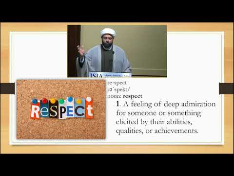 "Living a Life of \""Self-Respect\"" - English"