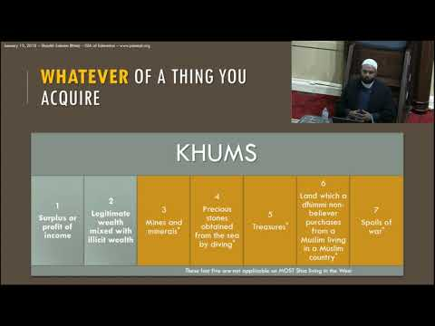 Khums Seminar by Shaykh Saleem Bhimji - English