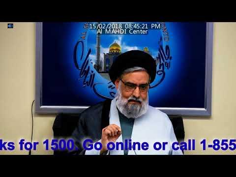 Maulana Sayyid Muhammad Rizvi Majlis e Shahadat Bibi Fatima S.A 2018 Al Mahdi Islamic Center 1 of 5 - Urdu
