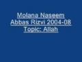 Molana Naseem Abbas Rizvi Imam Hussain 2004 08