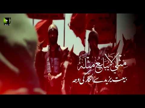 [Clip] بیعتِ یزید سے انکار کی وجہ | H.I Muhammad Raza Dawoodani - Urdu