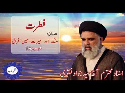 Fitrat Dars 18 Topic: Sunnat or Seerat mai Farq By Ustad Syed Jawad Naqvi 2018 Urdu