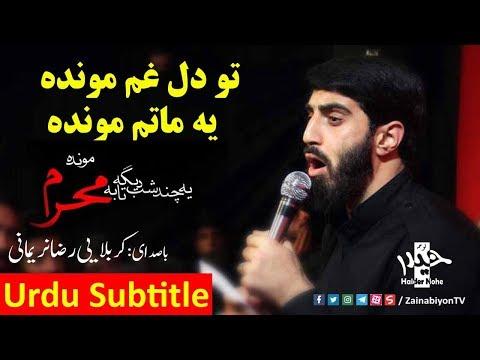 تو دل غم مونده یه ماتم مونده - رضا نریمانی | Farsi sub urdu