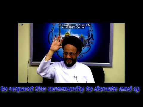 Majlis Inhedam Jannat ul Baqi June 21st 2018 By Allama Syed Muhammad Zaki Baqri at Al Mahdi Islamic Center Toronto-Urdu