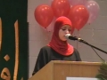 CASMO World Womens Day 2009 - Birthday of Hazrat Zahra SA - Youth Speaker Shizra Hasnain - English