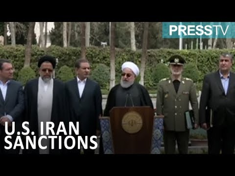 """[19 March 2019] Iran president describes US anti-Iran sanctions as \""""crimes against humanity\"""" - English"""