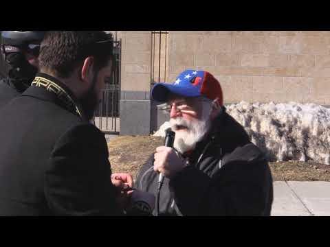 Ottawa Mark 4th year of Illegal GCC war on Yemen Br. Larry Speaks infront of UAE Embassy Ottawa - English