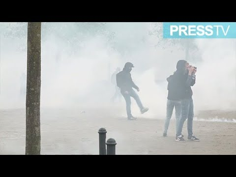 [7 April 2019] Protesters, police clash in Nantes on 21st round of \'yellow vest\' demos  - English