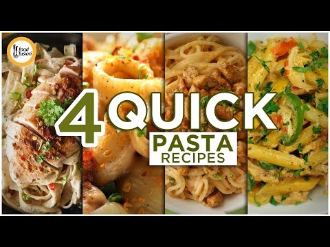 [Quick Recipes] 4 Quick Pasta (Ramzan Special) - English Urdu