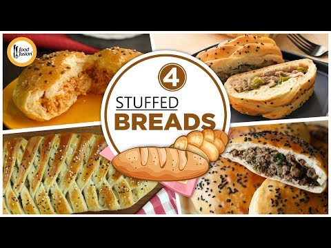 [Quick Recipes] 4 Stuffed Bread Recipes - English Urdu
