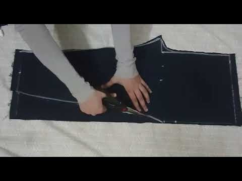 Trouser Cutting: How to cut trouser pant for girls (8-9yrs) - Urdu