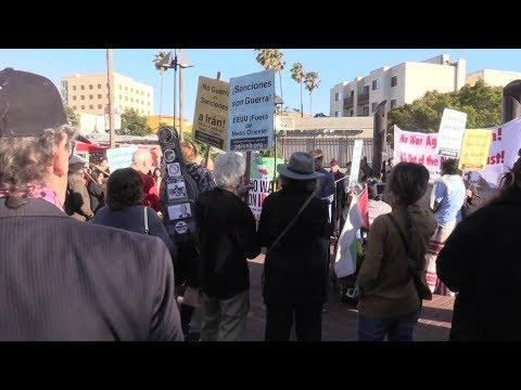 [26 June 2019] Dozens gather in San Francisco to demand \'No War with Iran\' - English
