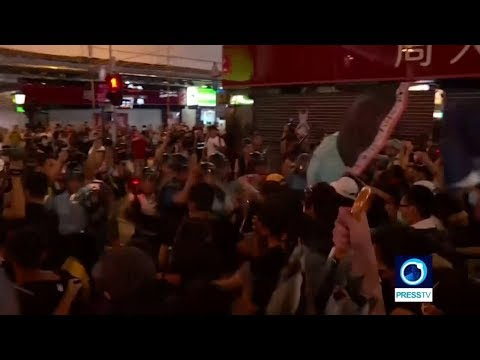 [8 July 2019] Fresh violence breaks out in Hong Kong as riot police clash with anti-government protesters - English