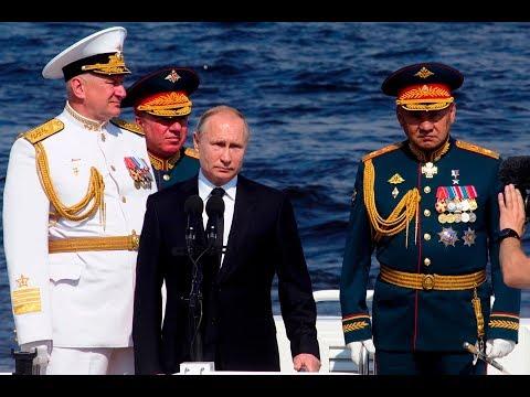 [28 July 2019] St. P\'burg: Putin leads Russian Navy Day parade - English