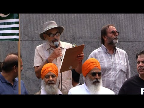 Ken Stone addressing to Kashmir Solidarity Rally Toronto 18Aug2019 - English