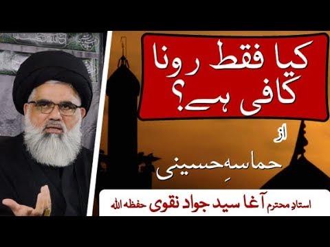 [ Clip 04] Topic: Hamasa e Hussaini a.s  Kia Faqat Rona Kafi hay    Ustad Syed Jawad Naqvi 2019 Urdu