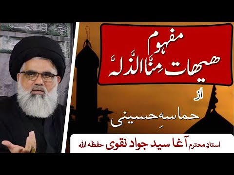 [Clip 11] Topic:Hamasa e Huseini  Mafhoom e Haihat Mina Zillah  Ustad Syed Jawad Naqvi 2019 Urdu