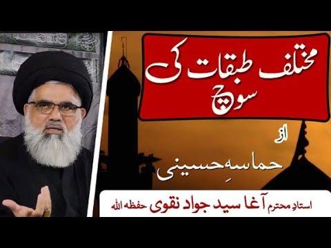 [Clip 13]Topic: Hamasa e Hussaini  Tabqat ki Soch | Ustad Syed Jawad Naqvi 2019 Urdu