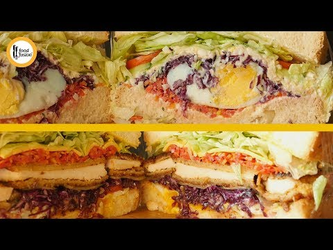 [Quick Recipe] Japanese style Wanpaku Sandwich 2 ways - English Urdu