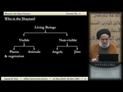 1 - Shaytan: The Open Enemy | Who is Satan? - Maulana Syed Muhammad Rizvi - English