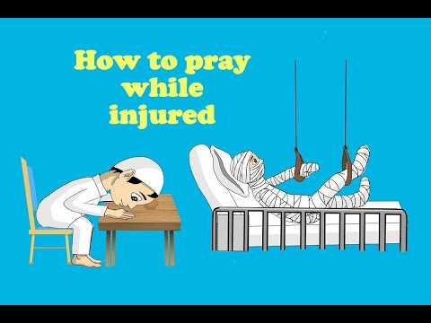 How to pray while injured/sitting - English