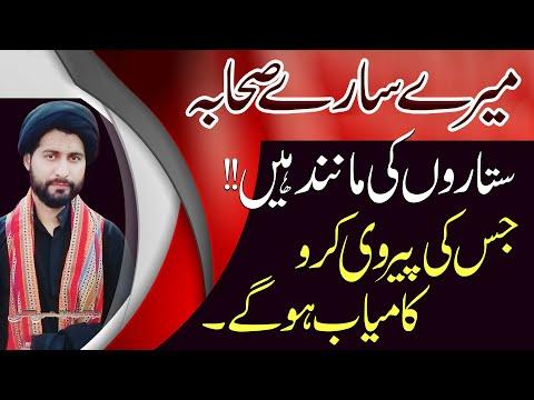 Mairy Saary Sahaba Sitaron Ki Manind Hayn..?? | Maulana Syed Arif Hussain Kazmi | Urdu