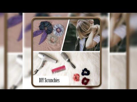 DIY SCRUNCHIES:How to make scrunchies from fabric scraps All Languages