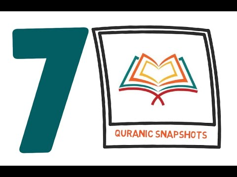 [Buid relationship with Quran] Quranic Snapshot of one Ayat from the Juz#7 - English