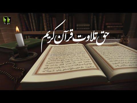 [Clip] Haq -e- Tilawat -e- Quran Kareem   H.I Muhammad Haider Naqvi - Urdu