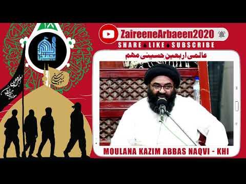 Clip | Moulana Kazim Abbas | Arbaeen Se Yazidiat KI Naboodi | Aalami Zaireene Arbaeen 2020