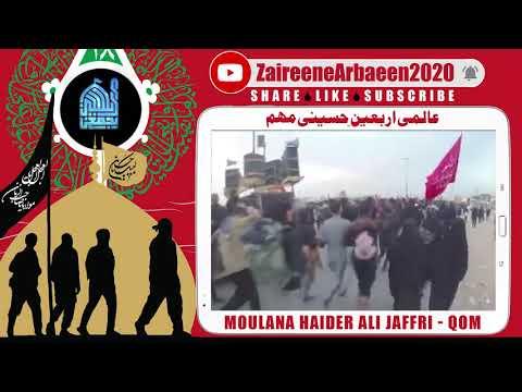 Clip   Moulana Haider Ali Jaffri    Ziarat Imam Hussain Wajib?   Aalami Zaireene Arbaeen 2020