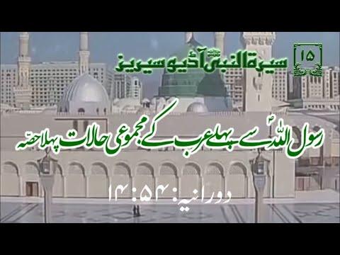 [15]Topic: Overall situation of Arabians before Prophet PBUH Part 1 | Maulana Muhammad Nawaz - Urdu